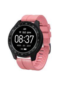 Różowy zegarek GARETT smartwatch, sportowy