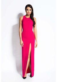 Różowa sukienka wieczorowa Dursi maxi