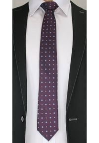 Casualowy Krawat Męski w Kropki i Kwiatki -6,5cm- Chattier, Kolorowy. Okazja: na co dzień. Kolor: wielokolorowy. Materiał: tkanina. Wzór: kwiaty. Styl: casual