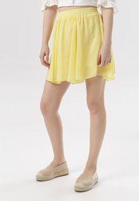 Born2be - Żółta Spódnica Loraema. Kolor: żółty