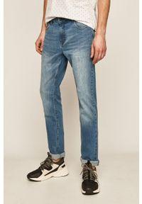 Niebieskie jeansy medicine w kolorowe wzory #5