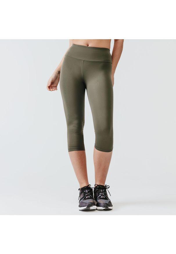 KALENJI - Legginsy do biegania krótkie damskie Kalenji Run Support. Materiał: poliester, materiał, elastan. Długość: krótkie. Sport: bieganie