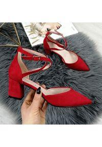 Czerwone sandały eVento