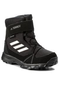 Czarne śniegowce Adidas z cholewką