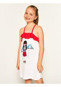Biała sukienka Little Marc Jacobs na co dzień, prosta, casualowa