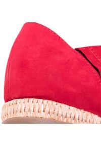 Czerwone sandały Gabor na co dzień, casualowe