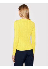Żółty sweter klasyczny Polo Ralph Lauren polo