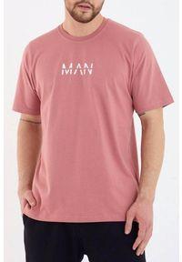 Różowy t-shirt IVET casualowy, na co dzień