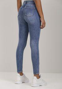 Renee - Niebieskie Jeansy Skinny Genenia. Kolor: niebieski