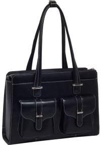 Torba MCKLEIN Skórzana torba damska na laptopa 15,4 Mcklein Alexis 96545 czarna. Kolor: czarny. Materiał: skóra