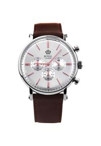 Srebrny zegarek Royal London casualowy