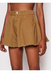 Kontatto Szorty jeansowe GZ215 Brązowy Relaxed Fit. Kolor: brązowy. Materiał: jeans