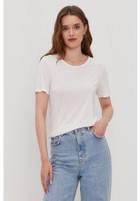 Biała bluzka Pieces na co dzień, gładkie, casualowa