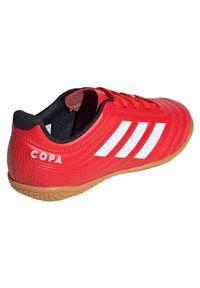 Adidas - Buty halowe dla dzieci adidas Copa 20.4 IN EF1928. Okazja: na imprezę. Materiał: skóra, syntetyk. Szerokość cholewki: normalna. Sezon: lato. Sport: bieganie