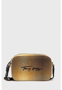 TOMMY HILFIGER - Tommy Hilfiger - Torebka AW0AW11044.4890. Kolor: brązowy. Rodzaj torebki: na ramię