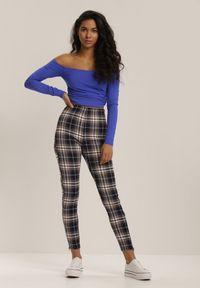 Niebieskie spodnie skinny Renee