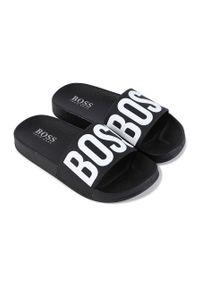 Czarne klapki BOSS