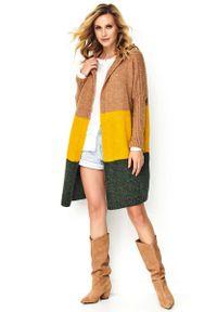 Sweter Makadamia z kapturem, długi