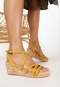 Żółte sandały Born2be