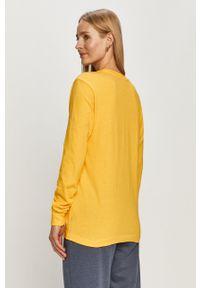 Vans - Bluza. Okazja: na co dzień. Kolor: żółty. Materiał: dzianina. Wzór: nadruk. Styl: casual
