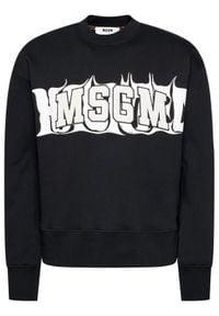 MSGM Bluza 2940MM170 207599 Czarny Regular Fit. Kolor: czarny