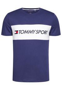 Niebieski t-shirt Tommy Sport sportowy