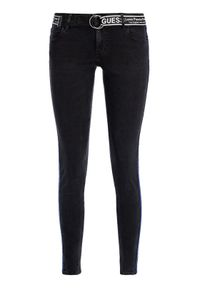 Czarne jeansy slim Guess