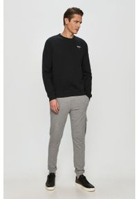 Czarna bluza nierozpinana Pepe Jeans z aplikacjami, casualowa