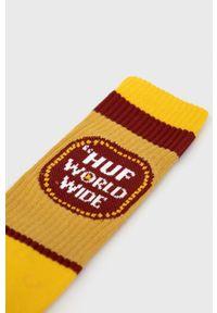 HUF - Skarpetki. Kolor: żółty