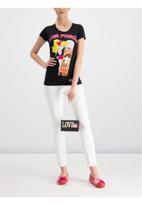 Białe jeansy slim Love Moschino