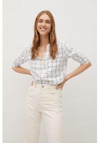 Biała koszula mango casualowa, z długim rękawem