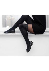 Czarne baleriny Zapato eleganckie, do pracy