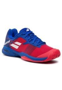 Babolat - Buty BABOLAT - Jet All Court Junior 32F20648 Poppy Red/Estate Blue. Kolor: czerwony. Materiał: materiał