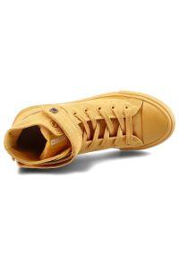 Big-Star - Trampki BIG STAR FF274581 Żółty. Okazja: na spacer. Kolor: żółty. Materiał: jeans, materiał, guma. Szerokość cholewki: normalna. Wzór: aplikacja. Sezon: lato