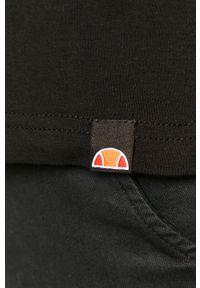 Czarna koszulka polo Ellesse z aplikacjami, casualowa, na co dzień