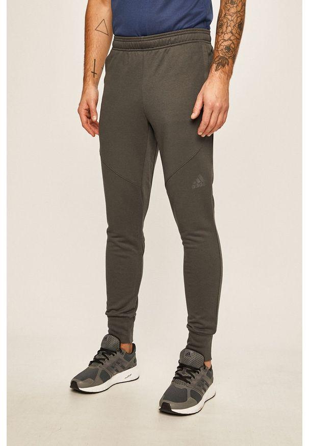 Szare spodnie dresowe adidas Performance