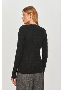 Lauren Ralph Lauren - Sweter. Okazja: na co dzień. Kolor: czarny. Materiał: dzianina. Długość rękawa: długi rękaw. Długość: długie. Styl: casual