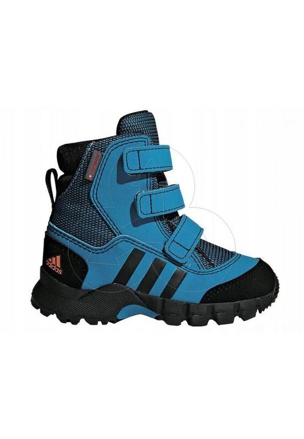 Białe buty trekkingowe Adidas z cholewką, na zimę