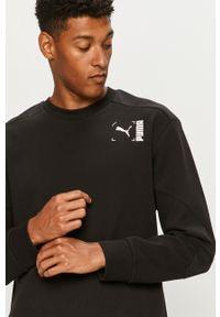 Czarna bluza nierozpinana Puma casualowa, z nadrukiem