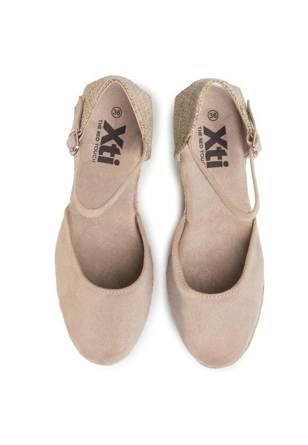 Beżowe sandały Xti casualowe, na co dzień
