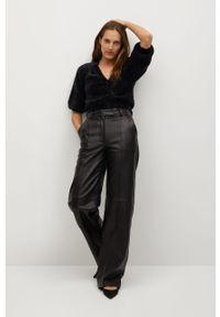 Czarny sweter rozpinany mango casualowy, na co dzień, długi, z długim rękawem
