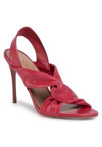 Czerwone sandały Eva Minge wizytowe