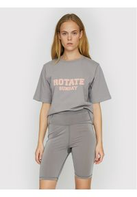 ROTATE T-Shirt Aster RT456 Szary Loose Fit. Kolor: szary