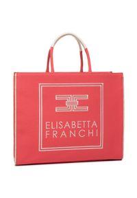 Różowa torba plażowa Elisabetta Franchi klasyczna