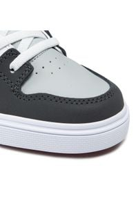 Sneakersy DC - Pure Elastic ADBS300256 Grey/Grey/Red(XSSR). Kolor: szary. Materiał: skóra