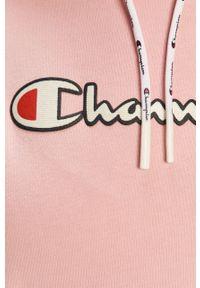 Różowa bluza Champion z aplikacjami, na co dzień, z kapturem