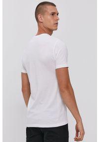 !SOLID - T-shirt bawełniany. Okazja: na co dzień. Kolor: biały. Materiał: bawełna. Wzór: gładki. Styl: casual