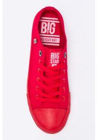 Big-Star - Big Star - Trampki. Nosek buta: okrągły. Zapięcie: sznurówki. Kolor: czerwony