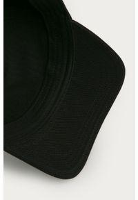 Czarna czapka z daszkiem Diesel z nadrukiem