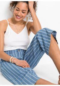 Niebieskie jeansy bonprix w paski, eleganckie